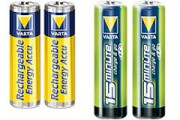 Pile rechargeable 1.5V - Power accu blister - 4 x AAA (800MAH