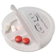 Pilulier en plastique - Dimensions : 7,4 x 1,7 cm