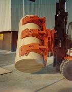 Pince à bobine de papier rotative