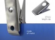 Pince accroche affiche en métal - Dimensions (Lxl) : 10x27 mm