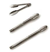 Pince de cuisine en acier inoxydable - Longueurs : 23 - 30 - 40 cm