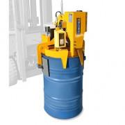 Pince radiocommandée pour fûts en métal ou en plastique - Préhension : Electrique (radiocommande) - Capacité de charge : 500 kg