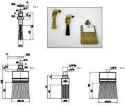 Pinceau de lubrification ecrou en laiton - Ref.MPI4103