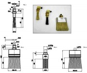 Pinceau haute temperature (maxi 180° C) - Réf.MPI4106