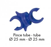 Pinces fixation pour jalons et cerceaux - 2 diamètres disponibles (mm) : 20 - 25