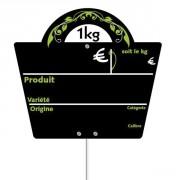 Pique-prix étiquette fruits et légumes - Dimensions (cm) : L 16 x l 14