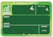 Pique prix fruits et légumes bio - Dimensions (cm) : 10 x 15 - 20 x 15