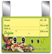Pique prix fruits légumes - Dimensions (cm) : 15 x 10 ou 20 x 15