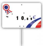 Pique-prix produits de france - Dimensions (cm) : 12,6 x 8 ou 10,6 x 7