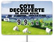 Pique prix viande bovine - Dimensions (cm) : 10,6 x 7