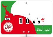 Pique prix viande halal - Dimensions (cm) : 12,6 x 8