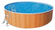 Piscine hors sol pour enfants 3 x 0,90 m - Dimensions extérieures (Diamètre x Hauteur) m : 3 x 0,90