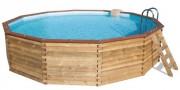 Piscine semi-enterrée bois - Dimensions extérieures (diamètre x Hauteur) m : 4,40 x 1,18
