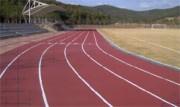 Piste d'athlétisme synthétique