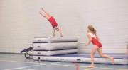Piste gonflable de gymnastique acrobatique - Surface d'entraînement rebondissante pour gym saut danse