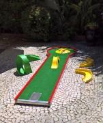 Piste Mini Golf et kit pour écoles Basic - Longueur : 3,33 m, Largeur : 59 cm, Cercle : Ø 93 cm