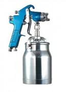 Pistolet à peinture industriel - Par aspiration - Buse de 2 mm de diamètre en acier inoxydable.