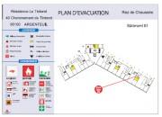 Plan d'évacuation incendie - Dimensions : 425 mm x 305 mm - 600 mm x 400 mm