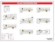Plan d'intervention personnalisé pour pompiers - Dimensions :  600 x 400 mm à 1000 x 800 mm