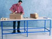 Plan de travail professionnel acier - 4 pieds
