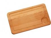 Planche à découper avec rigole - Dimensions : 35 à 40 x 25 à 30 x 1.7 cm
