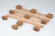 Planche bois pour palette 1200 x 100 - Planche Euro 100 mm avec chanfrein, 81200