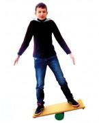 Planche d'équilibre - Dimensions planche en bois (cm) : 75 x 25