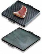 Planche de cuisson double plaque - Dimensions (L x l) : 385 x 385 mm
