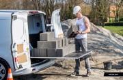 Plancher coulissant pour véhicules utilitaires - Extraction à 100 % - Capacité de charge : 1 tonne