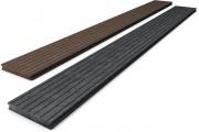 Plancher de terrasse en plastique recyclé - Dimension du profil : 2.8 x 19.5 cm