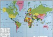 Planisphère physique et politique