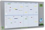 Planning annuel magnètique 34 lignes par mois 60 x 104 cm - NOBO