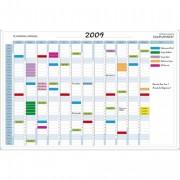Planning annuel magnétique 90x59cm vendu en kit avec de nombreux accessoires 56150E - Exacompta