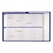 Planning annuel millesimé souple et effaçable en papier pelliculé CHRONOPLAN 61 x 90 cm - NOBO