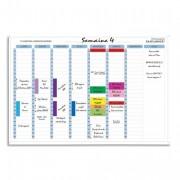 Planning hebdo magnétique 90x59cm vendu en kit avec de nombreux accessoires 58150E - Exacompta
