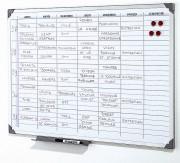 Planning magnétique - Semainier de 5 semaines de 7 jours