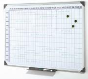 Planning magnétique annuel - Annuel de 12 mois de 31 jours - En 3 langues