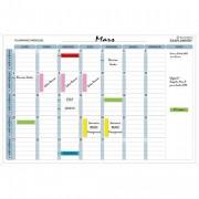 Planning mensuell magnétique 90x59cm vendu en kit avec de nombreux accessoires 57150E - Exacompta