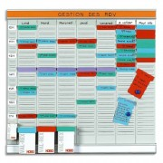 Planning OFFICE PLANNER 7 bandes de 24 fiches indice 2 + 1 band index - NOBO