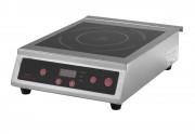 Plaque à induction - Inox - Commandes digitales - Puissance : 3500 W