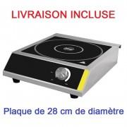 Plaque à induction professionnelle - Diamètre surface de cuisson jusqu'à (Ø) : 280 mm