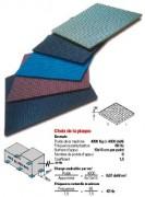 Plaque antivibratoire - Surface 220x220x8 cm²  à 450x450x13 cm²