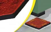 Plaque antivibratoire en nitrile - 2 épaisseurs -
