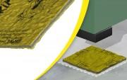 Plaque antivibratoire machine 5 000 kg - Dimensions : 500 x 500 mm - Épaisseur : 7 mm