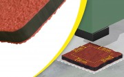 Plaque antivibratoire pour équipements industriels