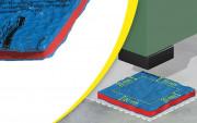 Plaque antivibratoire pour machine 450 kg - Dimensions : 500 x 500 mm - Épaisseur : 11 mm