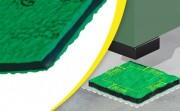 Plaque antivibratoire pour machine - Charge maximale : Statique 6 kg/cm² et Dynamique 25 kg/cm²