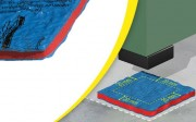 Plaque antivibratoire professionnelle - Charge maximale (kg/cm²) : 2