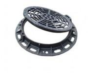 Plaque d'égout à grille ronde PMR D 400 - Classe : D 400 - Forme ronde