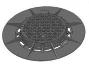 Plaque d'égout à revêtement bitumineux D400 - Classe : D 400  - Dimension extérieure (mm) : 1200